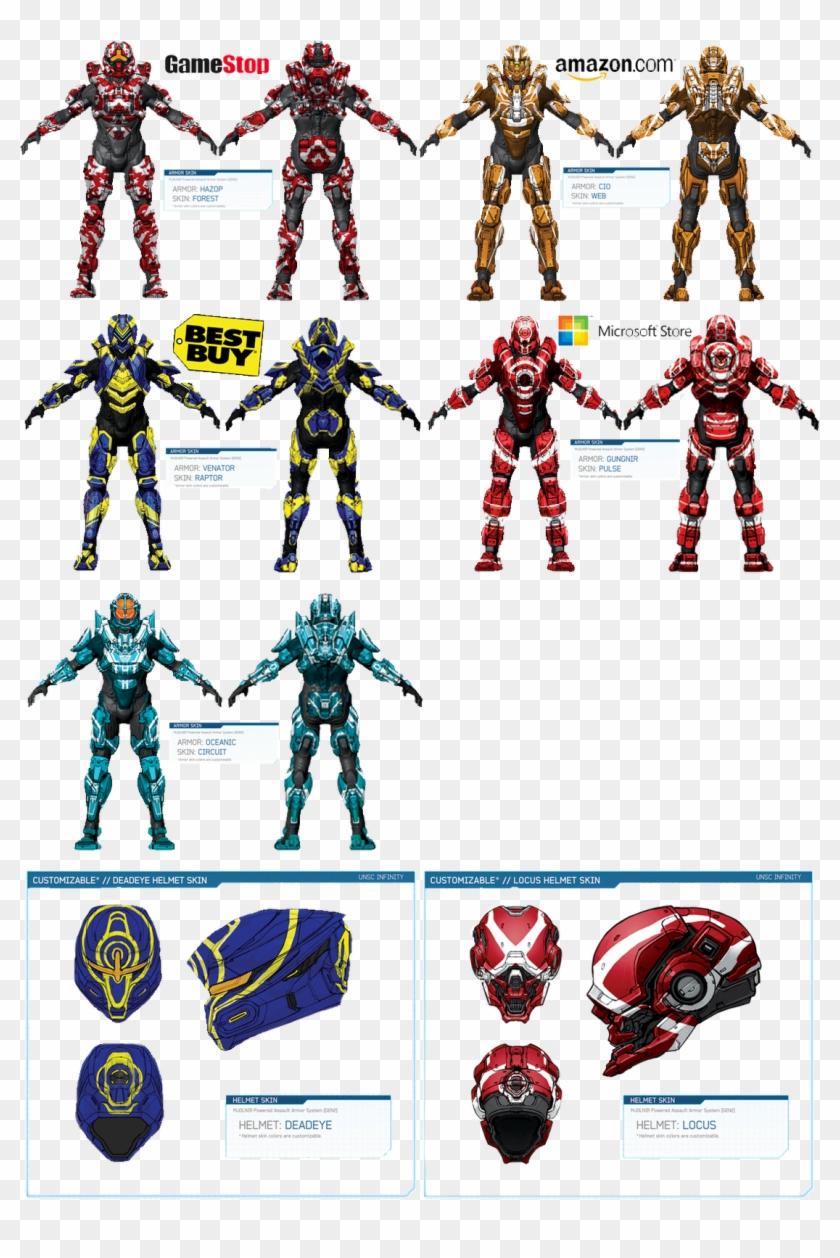 Armor - Halo All Armor Types Clipart #2674407