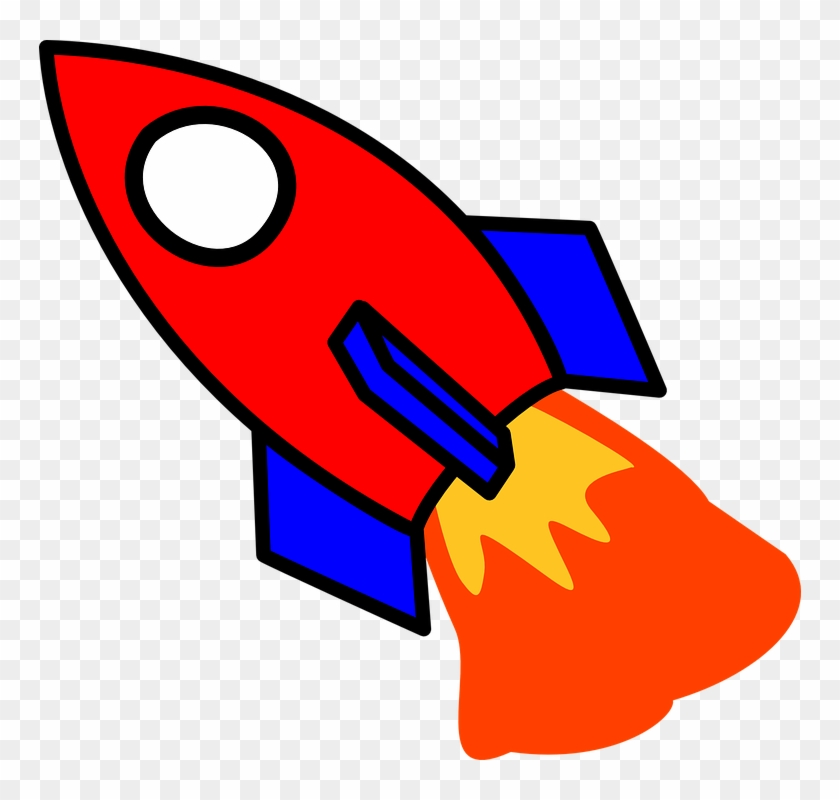 Rocker - Red And Blue Rocket Clipart #2677938