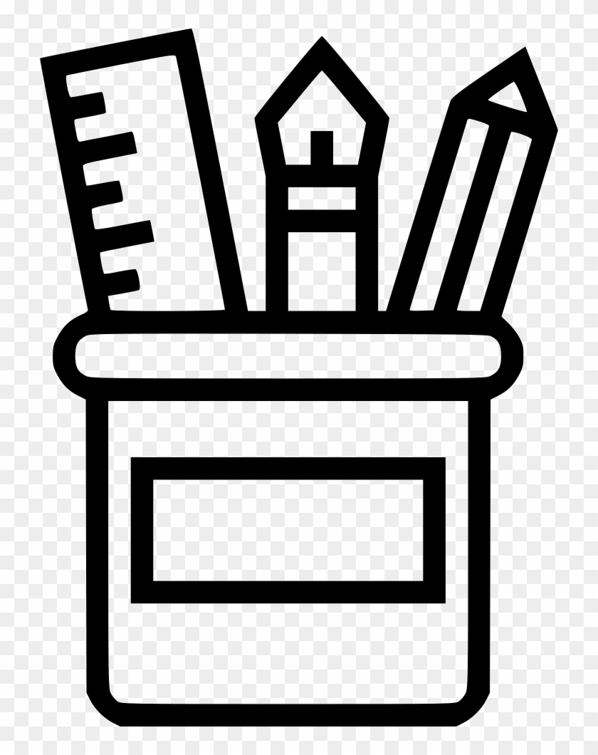 Supplies Clipart Free Download - Pencil Box Icon Free - Png Download #2678004