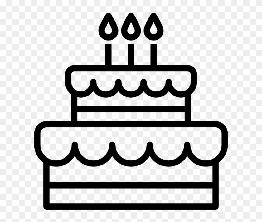Birthday Cake Free Vector Icons Designed By Freepik Black And White Birthday Cake Clip Art Png Download 2679067 Pikpng