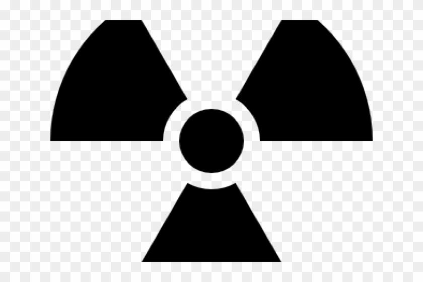 Radioactive Clipart Atomic Symbol - Radiation Symbol Black And White - Png Download #2689787