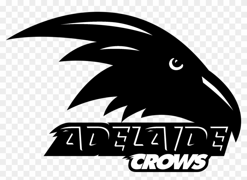 Adelaide Crows Logo Black And White - Adelaide Crows Logo Svg Clipart #2694935