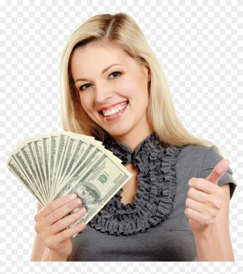 Girl With Money Png Clipart (#270580) - PikPng