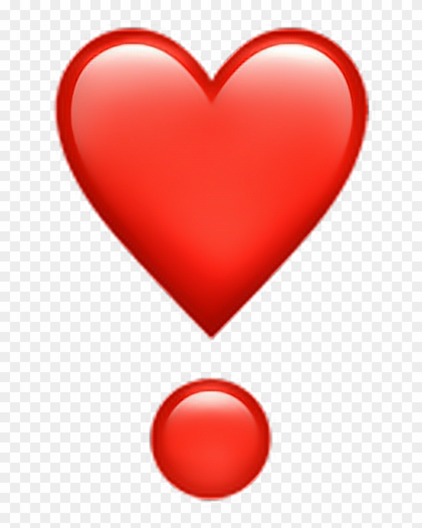 1024 X 1024 12 - Red Heart Emoji With Dot Clipart #271685