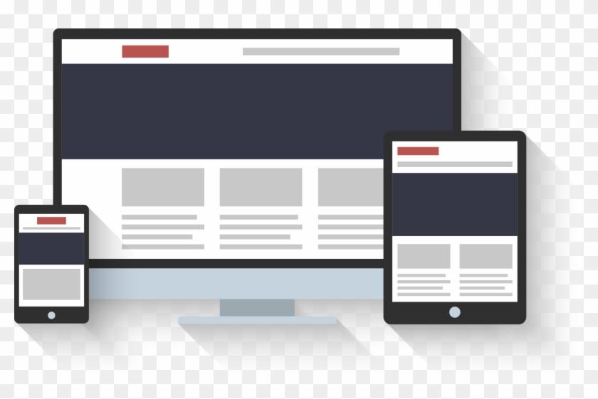 Web Design Flat Responsive Converted - Responsive Web Design Clipart #272715