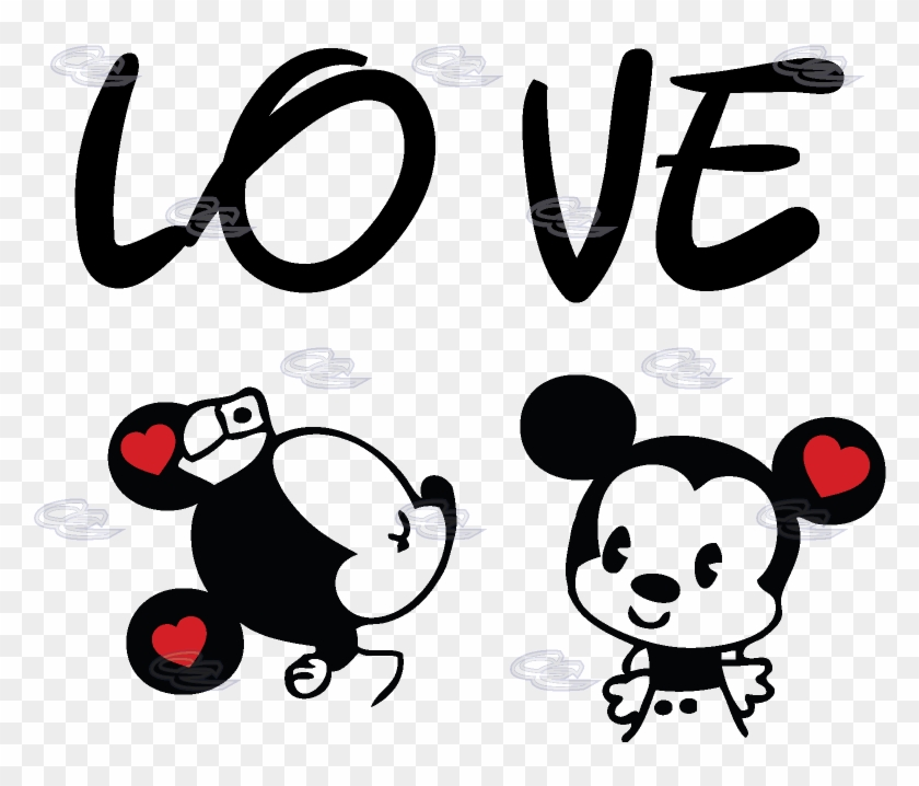 Mickey Mouse Love Png Minnie Mouse Mickey Mouse Kissing Clipart