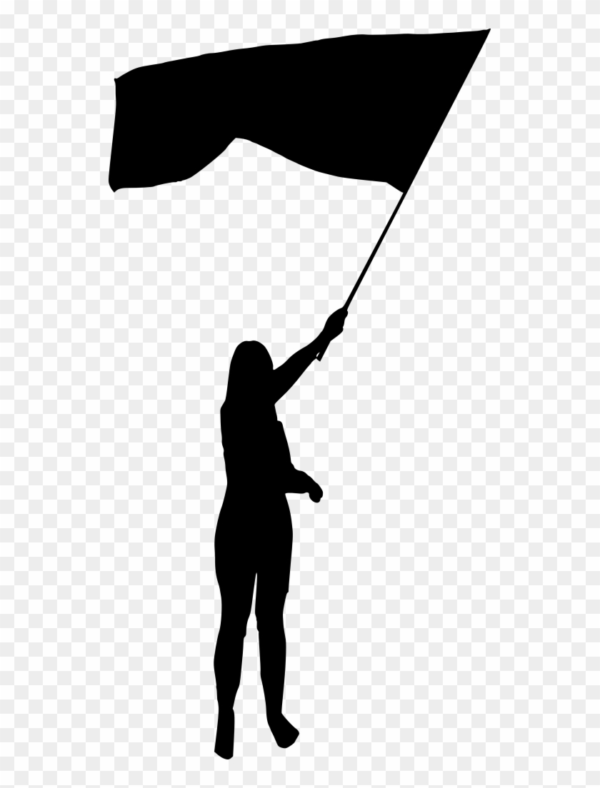 Png File Size - Flag Silhouette Png Clipart #275635