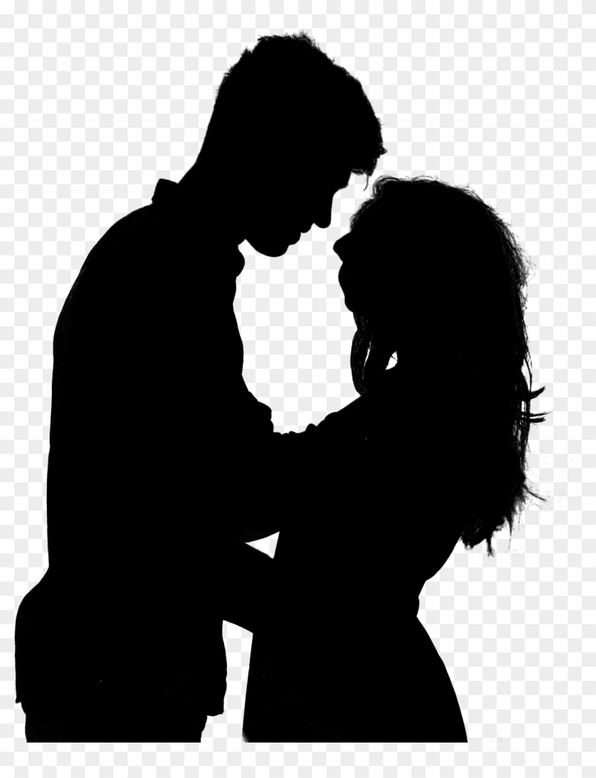 Couple Silhouette Png Transparent Image - Man And Woman Silhouette Png Clipart #278577