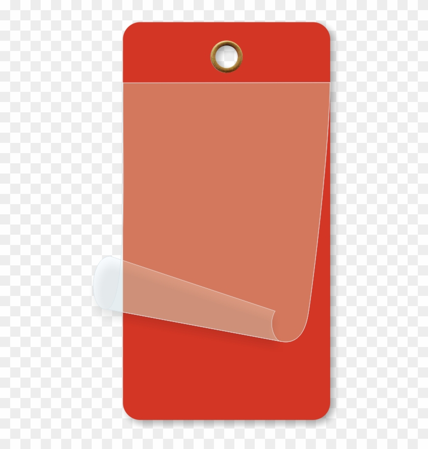 Red Self Laminating Blank Inspection Tag Mobile Phone Hd