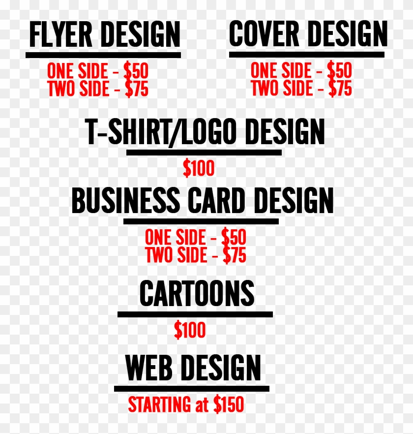 Flyer Design Prices Malaysia Delighted Business Card - Freelance Graphic Designer Price Sheet Clipart #2709457