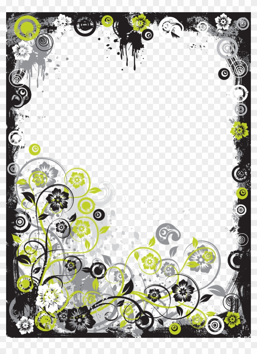 Search For Users And Pictures On Picsart Collage Online, - Border Design Frames Black And White Clipart #2712316
