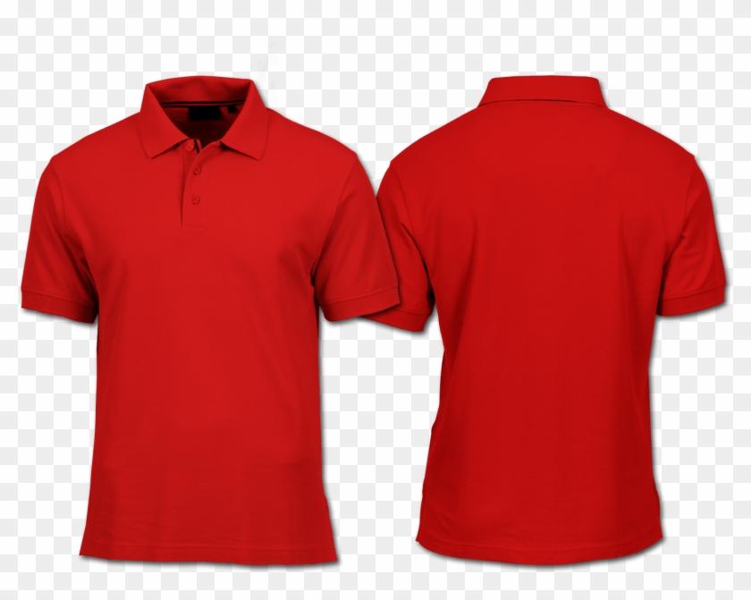 Gembel Keren - Red Polo Shirt Mockup Clipart #2715368