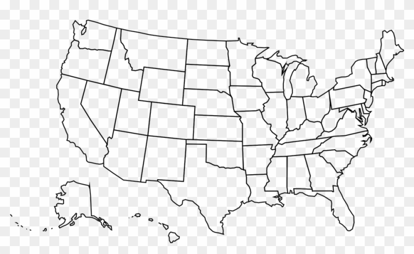 Png Library Download United Map Outline Google Search - Blank United States Of America Clipart #2725826