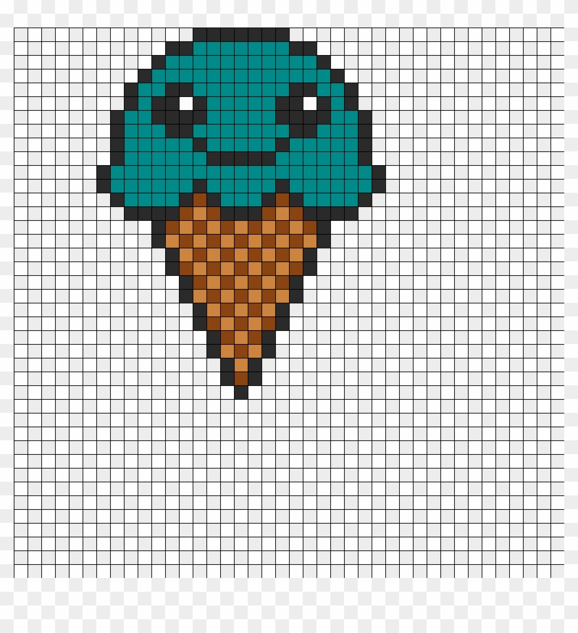 Minecraft Pixel Art Templates Ice Cream Ice Cream Perler