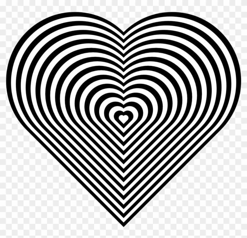 Great Pics Black And White Heart Coloring Pages Zebra - Heart Coloring Pages Clipart #2727338