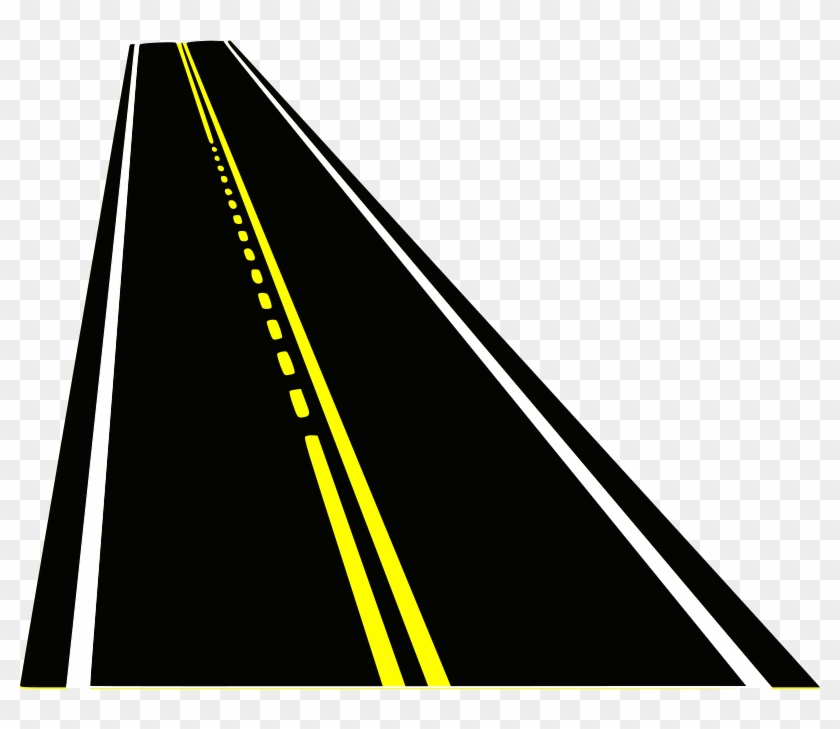 Straight Clipart Highway - Illustration - Png Download #2729714