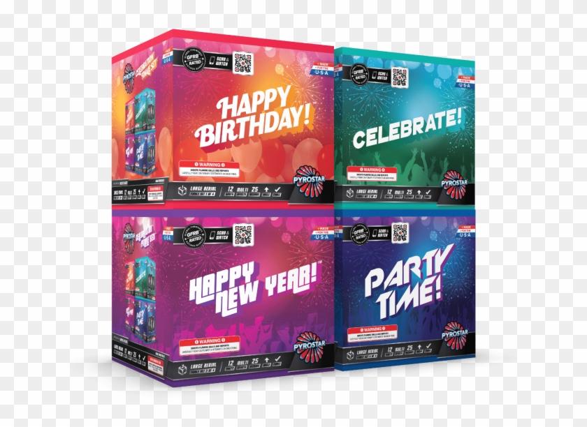 Celebrations 48 Shot Xl Aerial Finale Set - Graphic Design Clipart #2732039