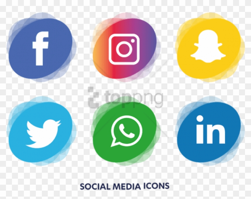 Free Png Social Media Icons Png Image With Transparent - Transparent Social Media Png Clipart #2732640