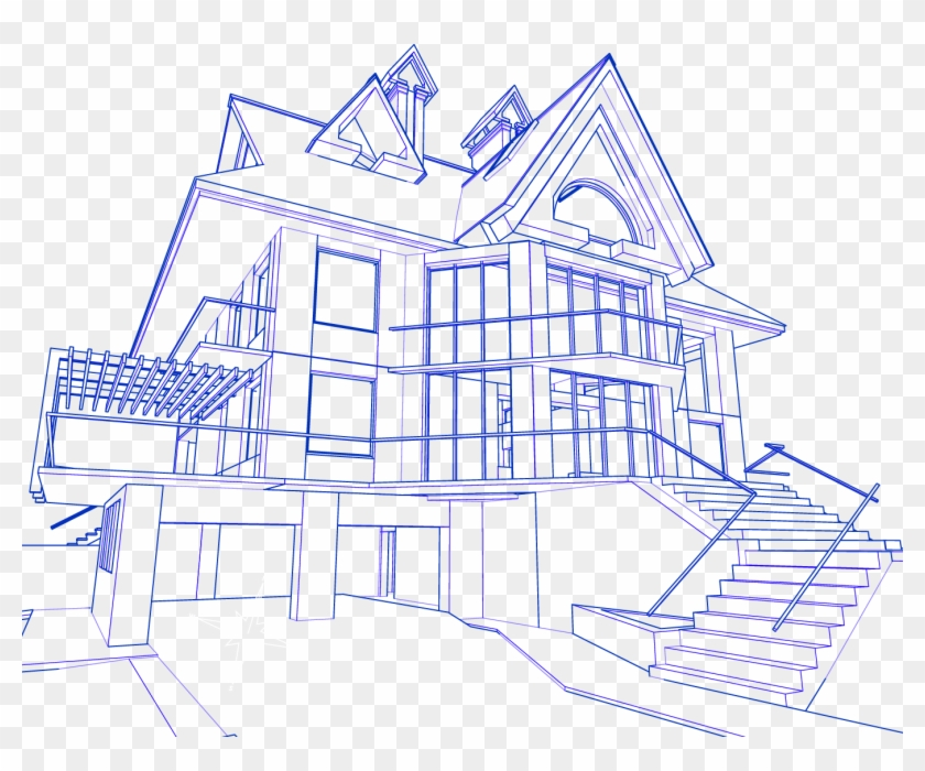 Construction My Dream House Drawing Clipart 2737860 Pikpng