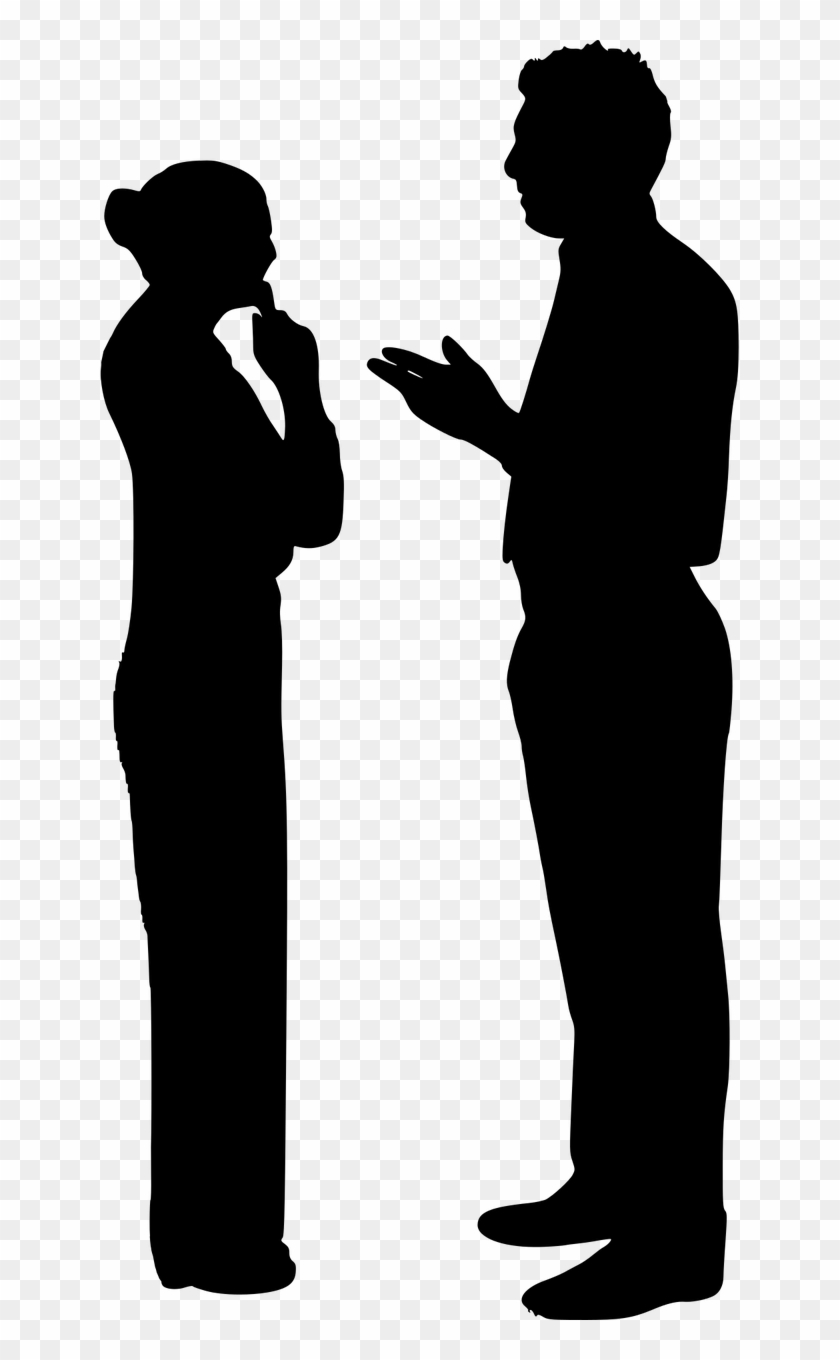 Transparent Person Talking Silhouette Png Clipart #2743296