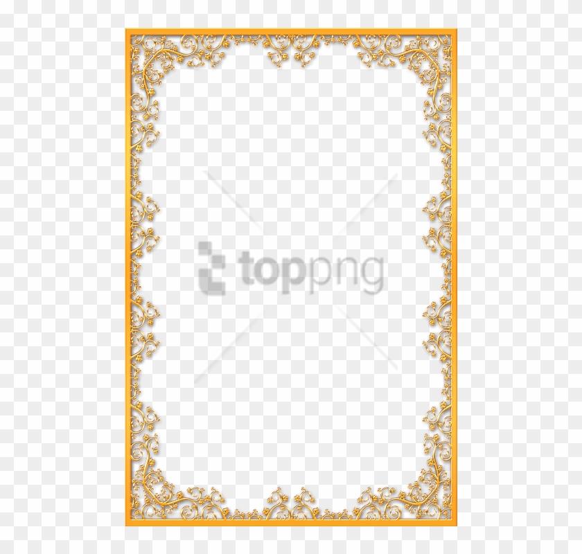 Free Png Gold Wedding Border Png Png Image With Transparent - Vintage Gold Frame Png Clipart #2744575