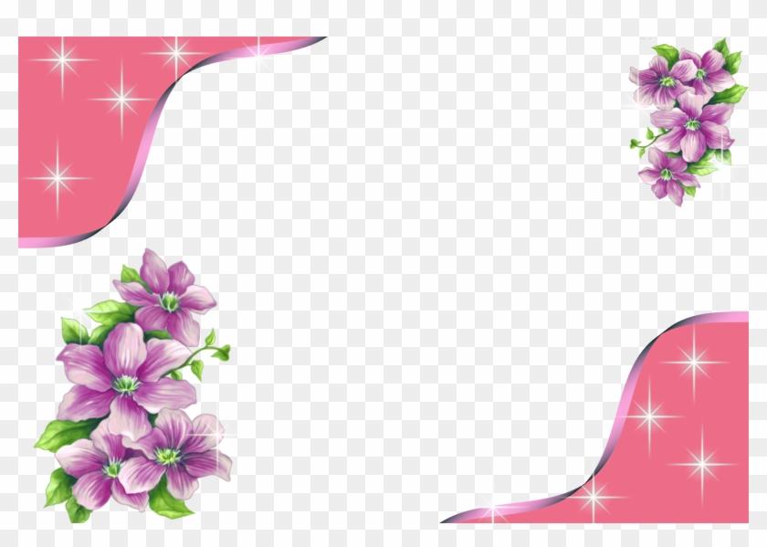 Свързано Изображение Flower Border Png, Floral Border, - Pink Flower Frames And Borders Png, Transparent Png #2744616