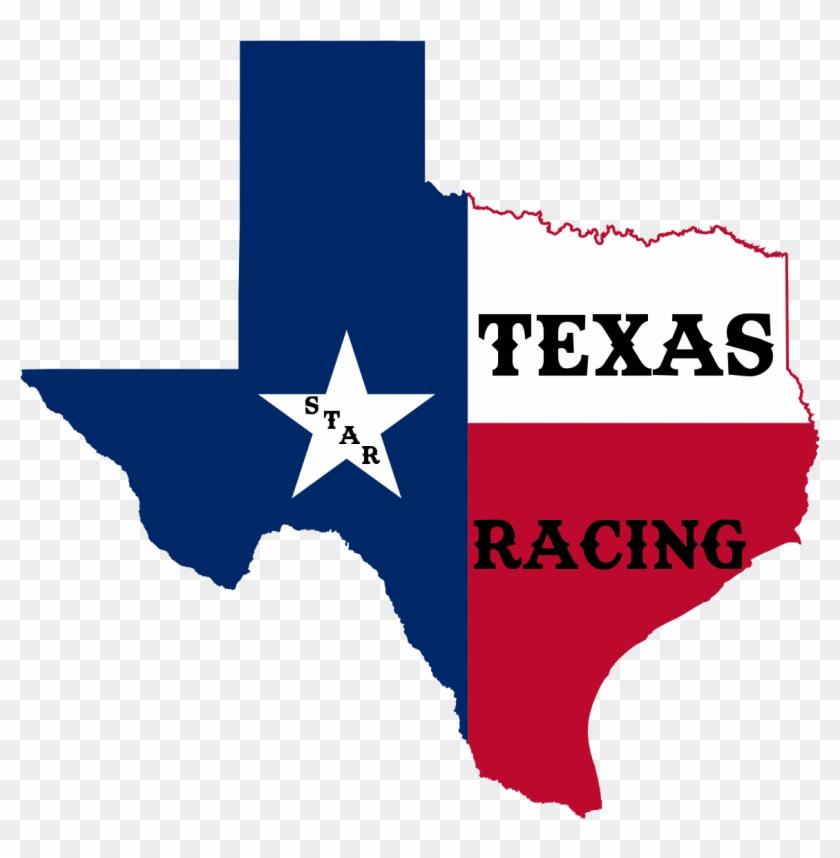 Texas Star Racing - Texas Flag Map Clipart #2748441