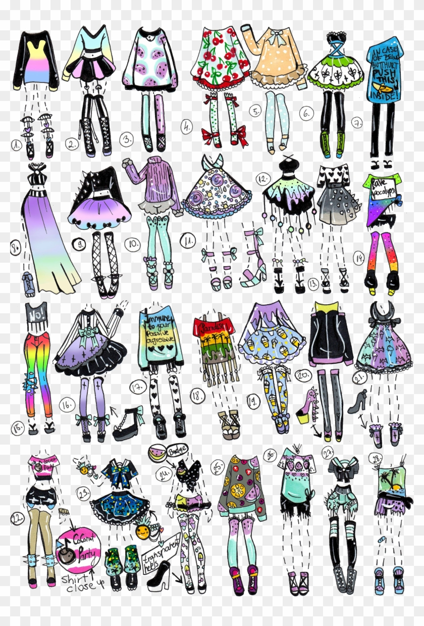 Closed Pp Clothes By - Draw Your Oc Outfits Clipart (#6
