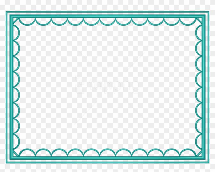 Free Png Teal Border Frame Png - Blue Border With Transparent Background Clipart #2767451