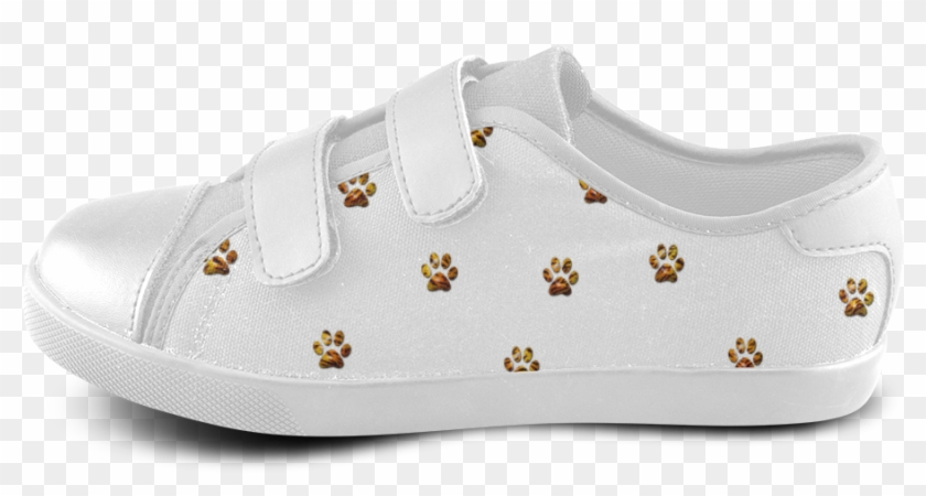 Tiger Paw Velcro Canvas Kid's Shoes - Skate Shoe Clipart #2769134