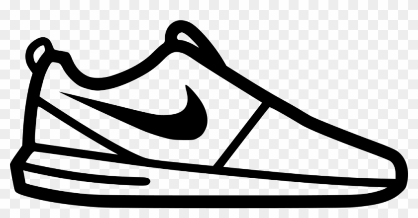Png Freeuse Nike Svg Black And White - Nike Shoe Icon Png Clipart #2769681