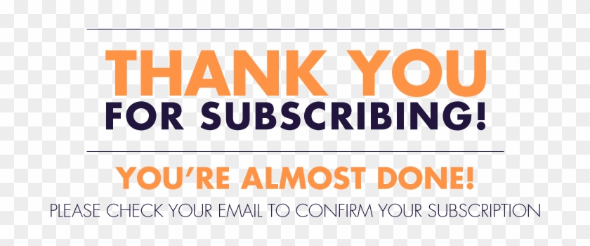 Thank You For Subscribing Clipart #2769850