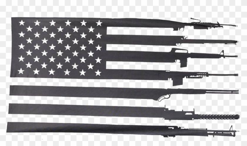 Black American Flag Clipart, HD Png Download - kindpng