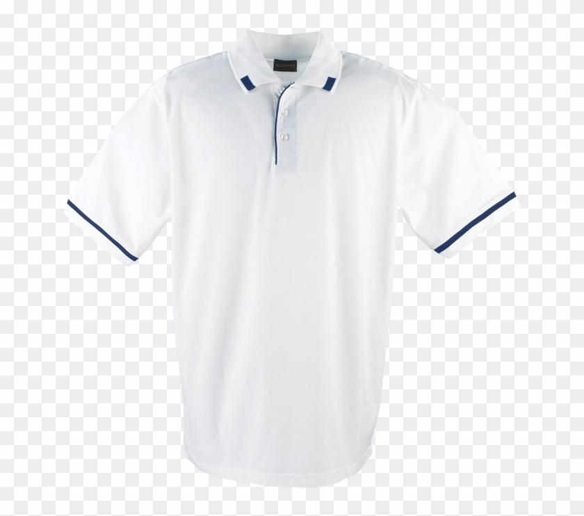 Mens Matrix White Navy 1356693282 Png - Plain White T Shirt With Collar Clipart #2785635