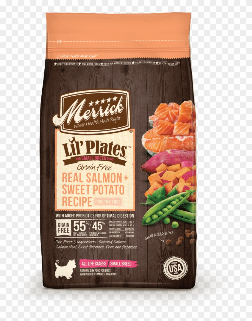 Merrick Lil' Plates Small Breed Grain Free Real Salmon - Merrick Lil Plates Grain Free Small Breed Recipe Clipart #2789502