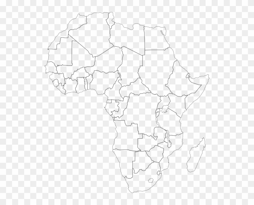 Africa Blank Map Png - Africa Political Map Clipart #2793628