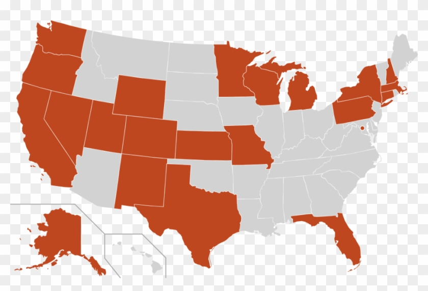 2019 03 Blank Us States Map - Us Senate Map 2019 Clipart #2795296