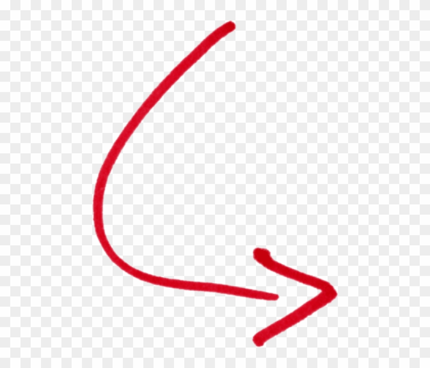 Free Png Download Curve Arrow Png Images Background - Hand Drawn Red Arrow, Transparent Png #284204