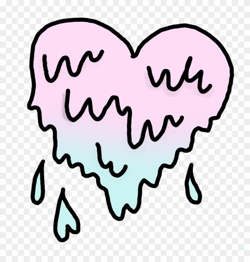 Heart Sticker - Overlays Transparent Tumblr Heart Clipart #287398