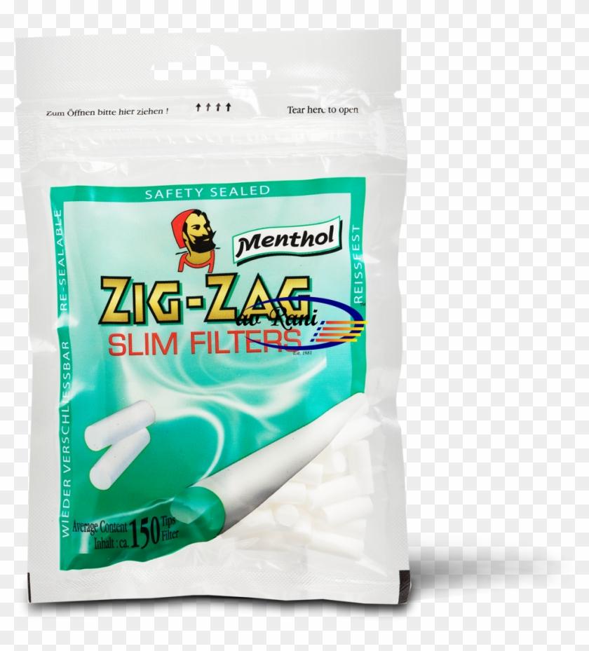 Zig Zag Menthol Slim Filter - Zig Zag Filter Menthol Clipart #289135