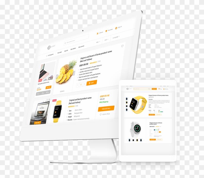 Ecommerce Html Template Components Uikit - E Commerce Ui Kit Clipart #289711