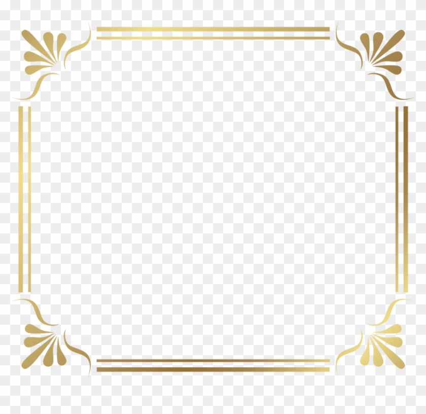 Gold Border Transparent - Border Design For Certificate Clipart #2806424