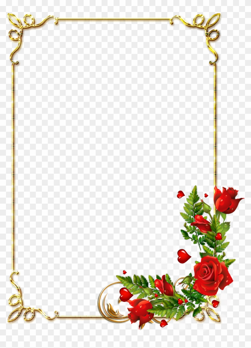Frames Png, Borders And Frames, Page Borders, Frame - Borders Flowers Design Free Clipart #2807123
