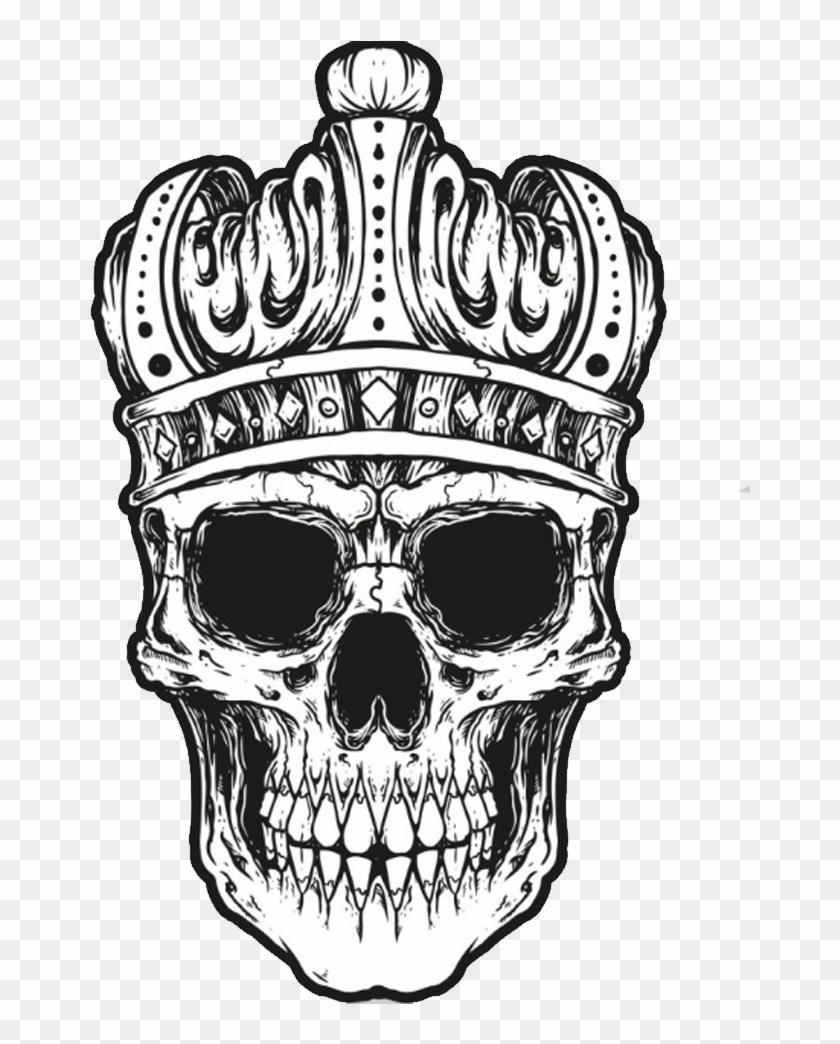 Bones Drawing Crown King Skull Tattoo Ideas Clipart