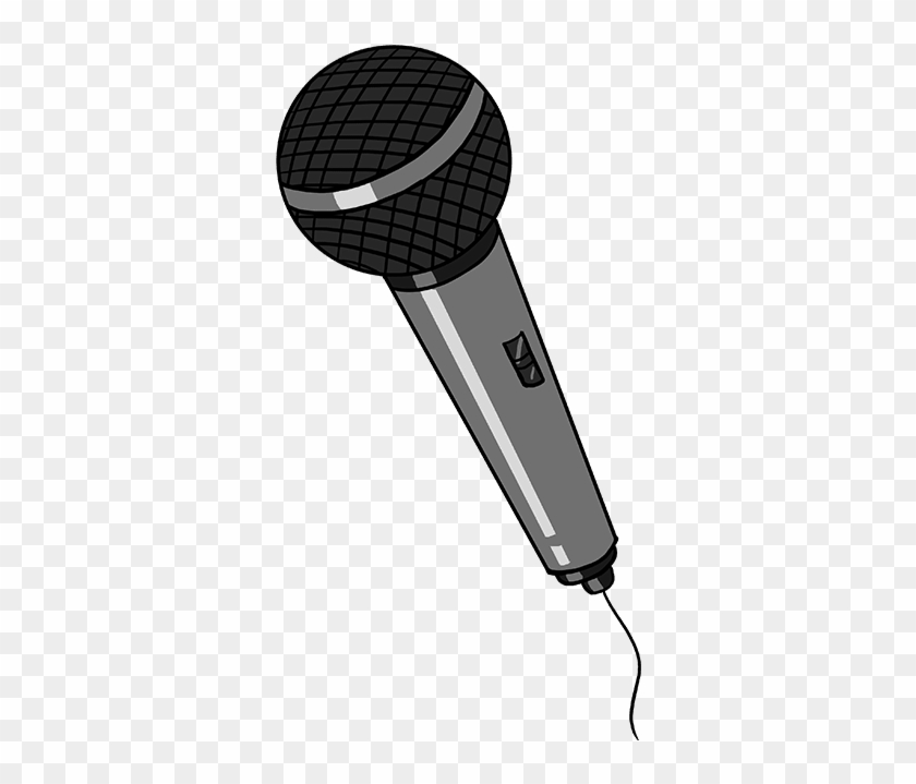Drawing Transparent Microphone - Easy Drawings Of A Microphone Clipart #2814903