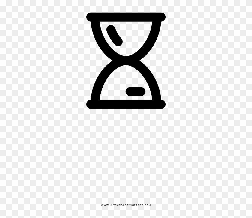 Hour Glass Coloring Page Desenho De Relogio De Areia Png Clipart