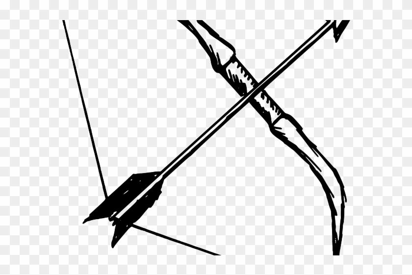 Bow And Arrow Vector - Drawn Bow And Arrow Clipart #2819568