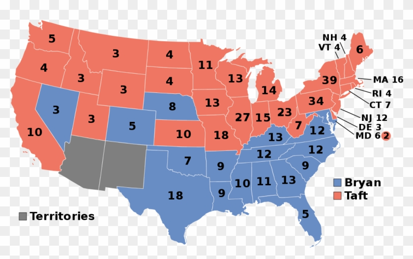 1908 United States Presidential Election - 2016 Presidential Election Clipart #2822910