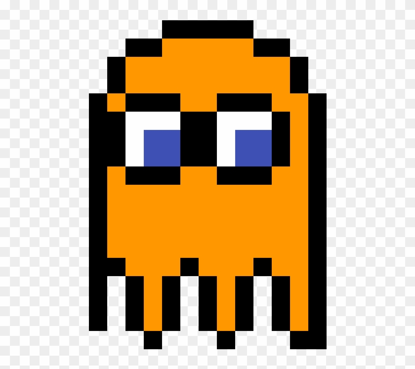 Pac Man Ghost Clyde Pixel Art One Piece Ace Clipart 2824592 Pikpng