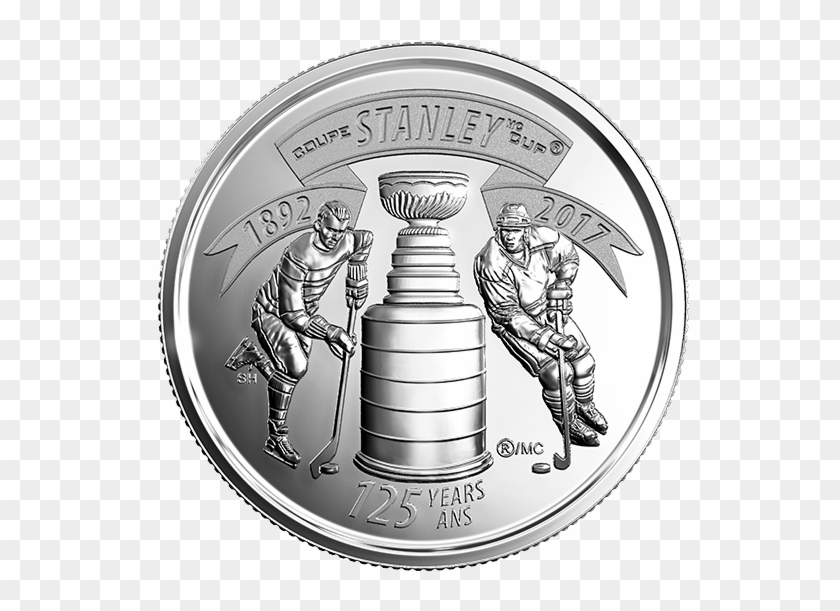 2017 25-cent 125th Anniversary Of The Stanley Cup® - Canadian Quarter Stanley Cup Clipart #2833272